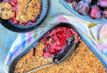 Plum Cookie Crumble Recipe Featuring Denby Halo