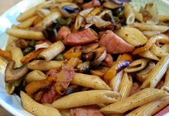 Sw Recipe: Gammon And Roasted Vegetable Pasta