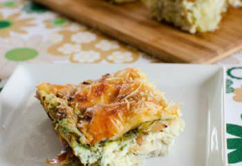 Artichoke, Parmesan And Spinach Quiche