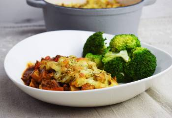 Crispy Roast Potato & Bolognese Bake