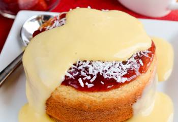 Low Syn Jam And Coconut Sponge Cake