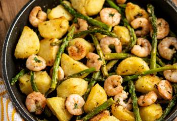 Warm Asparagus And Prawn Salad
