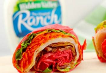 The 5 Minute Turkey Bacon Ranch Wrap