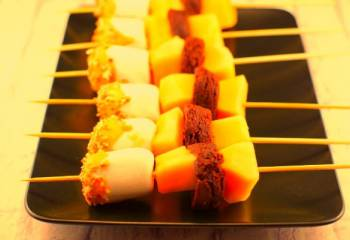 Rocky Road Melon Dessert Skewers