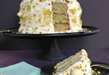 White Chocolate Pistachio Cake &Amp; 4 Year Bloggiversary Celebration!
