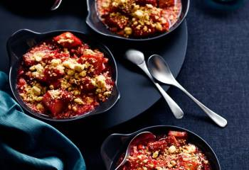 Individual Rhubarb And Ginger Crumbles