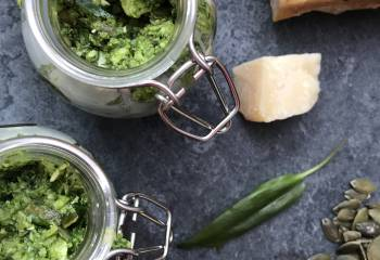 Wild Garlic And Pumpkin Seed Pesto