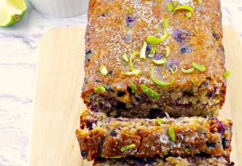 Blueberry Gingerbread Loaf With Fresh Lime Glaze