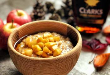 Apple Pie Porridge With Maple Syrup