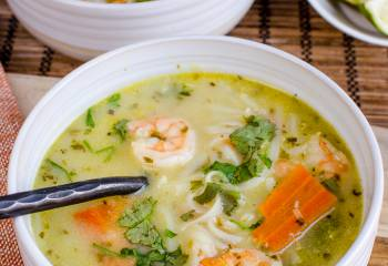 Thai Coconut Shrimp Noodle Soup (Instant Pot And Stove Top)