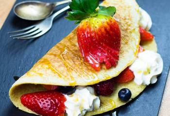 Folded Berry Pancake