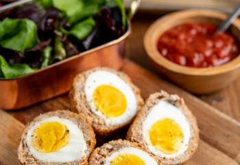 Gluten Free Oven Baked Scotch Eggs