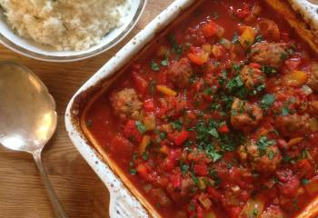 Turkey Meatballs With Creole Sauce
