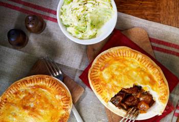 Slimming Worlds Steak And Guinness Pies With Sprout Mash Recipe
