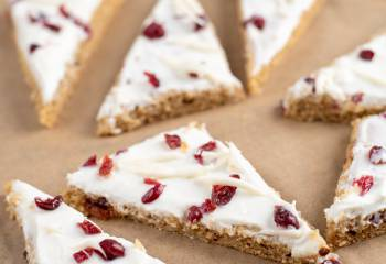 Cranberry Bliss Baked Oat Bars