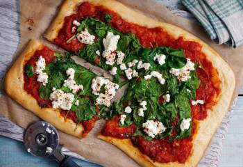 Ricotta And Spinach Pizza