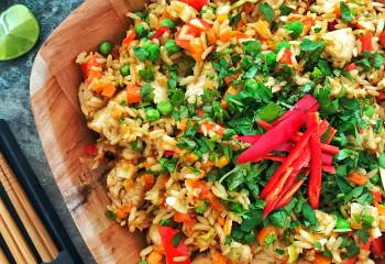 Thai Style Chicken Satay Fried Rice