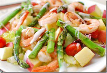 King Prawns With Mixed Salad