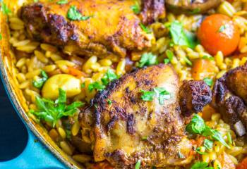 Syn Free One Pot Mediterranean Chicken Orzo