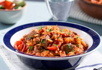 Greek Beef Stew With Orzo Pasta
