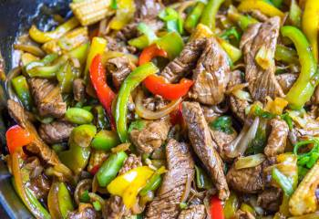 Stir-Fried Beef With Ginger And Spring Onion