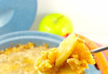 Mashed Turnip & Apple Casserole- Light & Weight Watchers Friendly