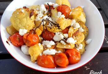 Mediterranean Roasted Cauliflower | Slimming World & Weight Watchers Friendly