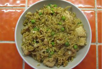 Egg Fry Rice With Chicken