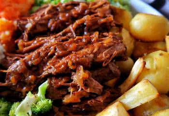 Slow-Cooker Beef Brisket With Rich Onion Gravy