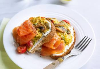Smoked Salmon And Dill Scrambled Eggs