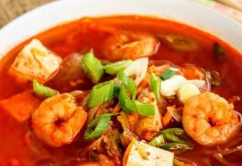 Healthy Korean Prawn & Tofu Soup