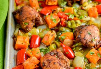 Syn Free Moroccan Chicken With Roasted Sweet Potato Traybake | Slimming World