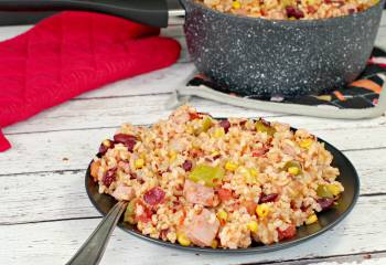 Leftover Ham, Rice & Beans- Gluten-Free & Weight Watchers Friendly