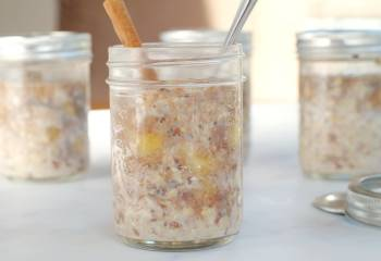 Healthy Bananas Foster Overnight Oats &Ndash; Weight Watchers Friendly