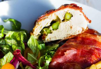 (148) Low Syn Mozzarella And Asparagus Stuffed Chicken