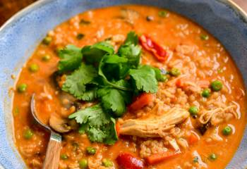 Instant Pot Thai Chicken Rice Soup