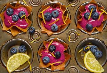 Lemon And Blueberry Tarts