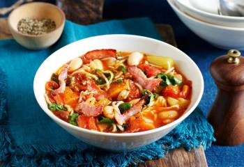 Rustic Minestrone With Bacon