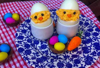 Deviled Easter Egg Chicks | Slimming Friendly