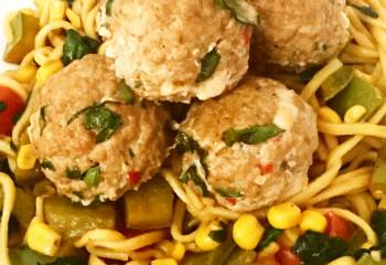 Syn Free Asian Style Pork & Spinach Meatballs