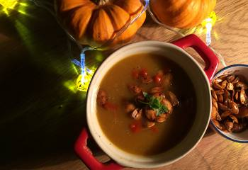 Roasted Cocoa And Spiced Pumpkin Soup