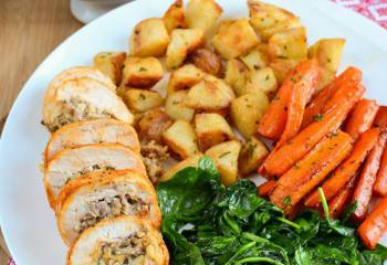 Bulgur Wheat, Onion, Sage And Sausage Stuffed Chicken