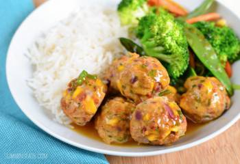 Chicken And Mango Meatballs With A Spicy Mango Sauce