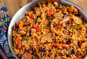 One Pot Cuban Style Rice (With Chicken And Sausage)