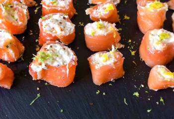 Syn Free Smoked Salmon Canaps