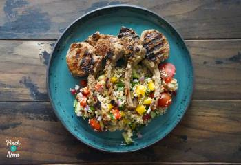 Sumac Lamb Chops And Rainbow Couscous