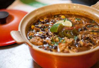 Slow-Cooked Mexican Black Bean & Shredded Salsa Chicken