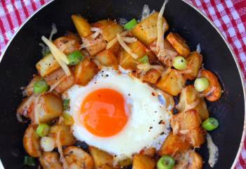 Cheesy Marmite Hash | Slimming Friendly