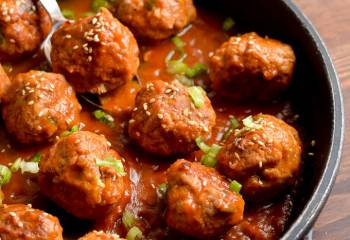 Low Syn Pork Meatballs With Spicy Pineapple Sauce