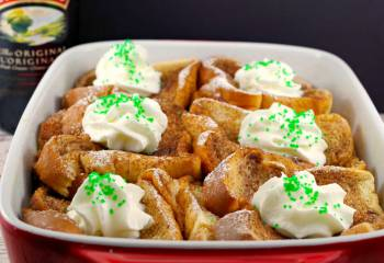 Baileys Irish Cream Overnight Baked French Toast Casserole